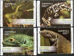 GUATEMALA Animaux En Danger 4v 2014 Reptiles Neuf ** MNH - Guatemala