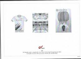 Belg. 2021 - Feuillet Noir & Blanc N° 4/5 ** -  (Premier Jour 30 Août 2021) - Hojas Blanco & Negro