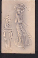D43 /   Prägekarten Frauen , Hase Jugendstil Um 1910 - Unclassified