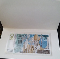 POLAND 50 Zlotych 2005 UNC Commemorative, JOHN PAUL II, Polymer With Folder - Polen