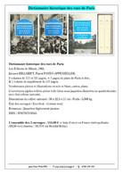 Dictionnaire Historique Des Rues De Paris - Dictionaries
