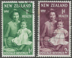 New Zealand. 1950 Health Stamps. Used Complete Set. SG 701-702 - Used Stamps