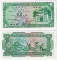Banknote Macau 5 Patacas 1981 Pick-58a Unc (US$ 70) - Macau