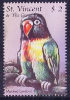 St. Vincent & Grenadines 2000 MNH, Macked Lovebird, Birds - Andere
