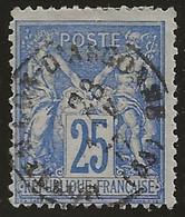 Montfaucon-d'Argonne (Meuse) : Timbre à Date Type 16 Sur Sage N°78, 1877. - 1877-1920: Période Semi Moderne