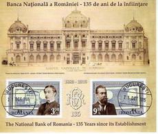 ROMANIA : ROMANIAN NATIONAL BANK 1 Used Souvenir Block  - Registered Shipping! Envoi Enregistre! - Usati
