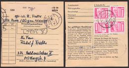 Prora /Rügen Paketkarte Abs. Von Soldat Mit DDR 20 Pf. Lenindenkmal Berlin 1869(4) 6.7.78 Nach Haldensleben - Briefe U. Dokumente