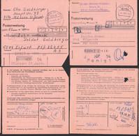 Amerika/Mulde Wollspinnerei, Mühlsen St. Jacob, 2 PA PSST. (12) Halberstadt, (20)  Erfurt Je An Soldat, PSF-Adresse - Poststempel - Freistempel