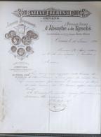 Distillerie Spéciale D'Absinthe Et De Kirchs Ornans Doubs 1890 - Documentos Históricos