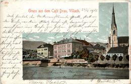 Villach, Gruss Aus Dem Cafe Drau - Villach