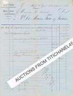 RHODES ST GENESE - TOURNEPPE  Facture De 1885 De J. DE MEURS FRERE & SOEURS Papeteries à La Main & à La Mécanique - Printing & Stationeries