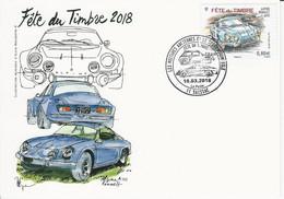 ALPINE RENAULT A110 Sur CM Fête Du Timbre 2018 - - Voitures
