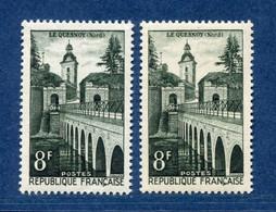 ⭐ France - Variété - YT N° 1105 - Couleurs - Pétouille - Neuf Sans Charnière - 1957 ⭐ - Varieties: 1950-59 Mint/hinged