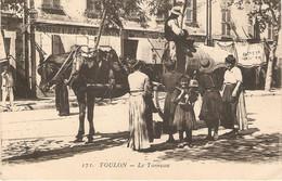 Bonne Cpa De Toulon (83), Le Tonneau, Attelage Devant La Marbrerie St-Jean-du-Var, éd. ELD 171, Dos Vert écrite En 1919 - Toulon