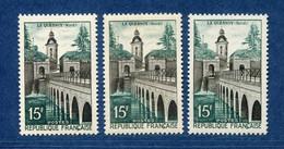 ⭐ France - Variété - YT N° 1106 - Couleurs - Pétouille - Neuf Sans Charnière - 1957 ⭐ - Varieties: 1950-59 Mint/hinged