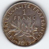 1 Franc Semeuse 1919 217-25  SUP - H. 1 Franc