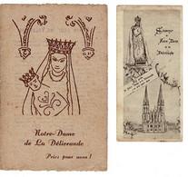 Ref: 21019 - Image Religieuse- Canivet : Souvenir Notre Dame De La Délivrande De Douvres  ( 2 Unités) . - Religion & Esotericism