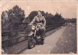 """RUSSIA.#6295 PHOTO. """"GIRL ON A MOTORCYCLE. *** - Andere"""