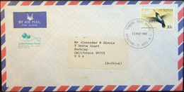 St Kitts - Official Cover To USA 1981 Bird 30c Solo - Kolibries