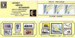 """France  - Postiers Autour Du Monde - Carnet Privé De 3 TP 2831** - Bateau  La Poste """" - MEAUX Philatélie - Année 1993 - - Lettres & Documents"""