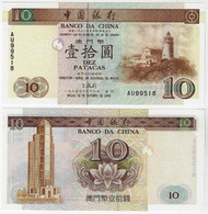 Banknote Macau 10 Patacas 1995 Pick-90 UNC (US$ 27.5) - Macau