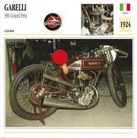 Transports - Sports Moto - Carte Fiche Technique Moto - Garelli 350 Grand Prix - Course - Italie 1924 - Motorradsport