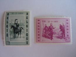 België Belgique 1957 Koning Roi Leopold I 1020-1021 MNH ** - Unused Stamps