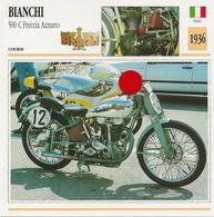 Transports - Sports Moto - Carte Fiche Technique Moto - Bianchi 500 C Freccia Azzuro - Course - Italie 1936 - Motorradsport