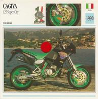 Transports - Sports Moto - Carte Fiche Technique Moto - Cagiva 125 Super City - Tourisme - Italie 1990 - Motorradsport