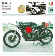 Transports - Sports Moto - Carte Fiche Technique Moto - Benelli 500 Grand Prix - Jarno Saarinen - Course - Italie 1973 - Motorradsport