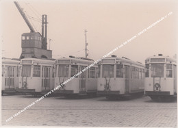 FOTO TRAM KUSTTRAM TRAMS TYPE S EXPO TWEERICHTINGS MOTORRIJTUIG / TRANSPORT VIA DE HAVEN / GROTE HAVENKRAAN N° 159 - Tram