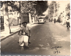 Scooter Vespa 1951 - à Cagnes Sur Mer ? 06 Photo C.9x12cm - Cars