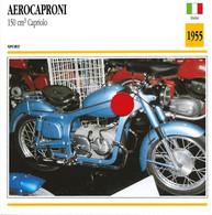 Transports - Sports Moto - Carte Fiche Technique Moto - Aerocaproni 150 Cm3 Capriolo - Sport - Italie 1955 - Motorradsport