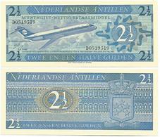 Banknote Netherlands Antilles2½ Gulden 1970 Pick-21A Airplane UNC (US$ 17.5) - Otros – América