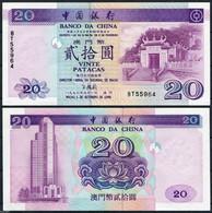 Banknote Macau 20 Patacas 1996 Pick-91 UNC (US$ 45) - Macau