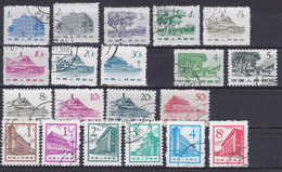 CHINA 1962 - 1965, Lot Of Stamps, Cancelled Regular Issues, Series Not Complete - Lots & Serien
