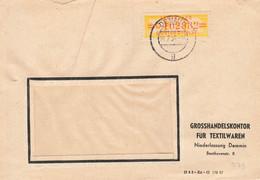 DDR Brief Dienst ZKD Wertstreifen EF  Mi.17 O Textilwaren Demmin 1958 - Service