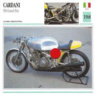 Transports - Sports Moto - Carte Fiche Technique Moto - Cardani 500 Grand Prix - Course ( Prototype ) - Italie 1968 - Motorradsport