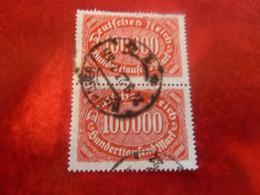 Deutsches Reich - Sunberttaufend Marf - 100.000 - Rouge-orange - Double Oblitérés - Année 1922 - - Officials
