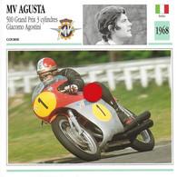 Transports-sports Moto- Carte Fiche Technique Moto - MV Agusta - 500 Grand Prix 3Cyl - G Agostini - Course - Italie 1968 - Motorradsport