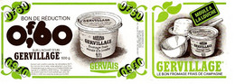 Ref: 21028 - Publicité Fromage Frais GERVILLAGE, Gervais  Avec Bon De Réduction De 0,60 Franc - Advertising