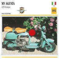 Transports - Sports Moto - Carte Fiche Technique Moto - MV Agusta - 125 Ovunque - Ville Scooter - Italie 1951 - Motorradsport