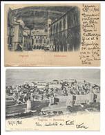 2 POSTCARDS OF RAGUSA ( DUBROVNIK ) , ZOLLAMTSPLATZ AND MARIENBERG , 1904 . - Kroatien