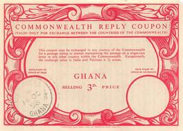 GHANA  Commonwealth Reply Coupon Coupon Réponse 1958 - Ghana (1957-...)