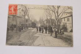 Luynes - Le Tramway Arrivant De Marseille 1909 - Luynes