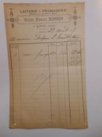T064 / Facture Laiterie Fromagerie Veuve Marius Borron à Lhuis (Ain) - Invoices