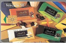 CARTE-PUCE-PRIVEE-PUBLIC- 50U-EN1034-GEMA-10/94-Sans 2e Logo-LINDT-CHOCOLETTI 2-R° Glacé-Utilisé-TBE-LUXE - 50 Unità