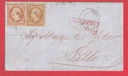 N°23 21 ANCRE PAQUEBOT POSTE MOERIS POUR LILLE NORD - 1849-1876: Klassik
