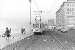 Mariakerke (Eglise). SNCV Littoral. Cliché Jacques Bazin. 29-08-1952 - Trains