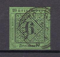 Wuerttemberg - 1851 - Michel Nr. 3 K3 - Gestempelt - 40 Euro - Wurttemberg
